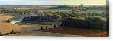 Little Sioux Autumn Sunrise Canvas Print by Bruce Morrison