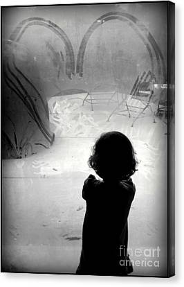 Little Sissy Deep In Thought Canvas Print by Diane M Dittus