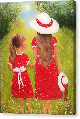 Little Sisters Canvas Print by Joni McPherson