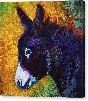 Donkey Canvas Print - Little Sparky by Marion Rose