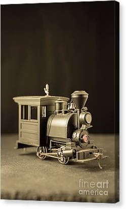 Canvas Print featuring the photograph Little Steam Locomotive by Edward Fielding