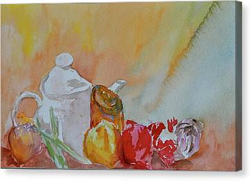 Canvas Print featuring the painting Little Still Life by Beverley Harper Tinsley