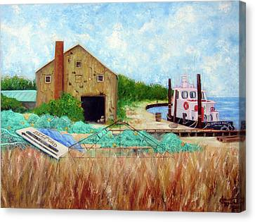 Little Toot Tug Boat Canvas Print