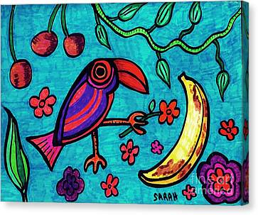 Little Toucan Canvas Print by Sarah Loft