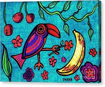 Little Toucan Canvas Print by Sarah Loft
