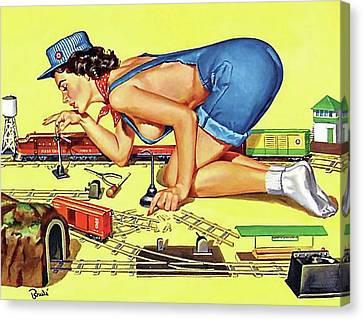 Canvas Print - Little Train Play by Long Shot