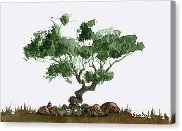 Little Tree 2 Canvas Print by Sean Seal