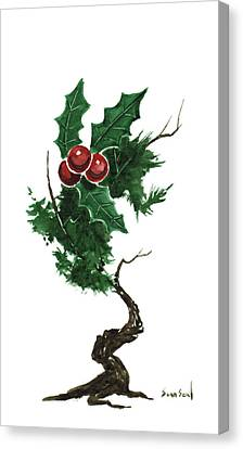 Little Tree 96 Canvas Print by Sean Seal