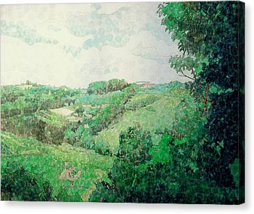 Little Tuscan Valley Canvas Print by Jason Charles Allen