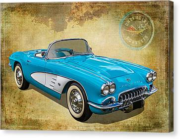 Little Vette Canvas Print by Keith Hawley