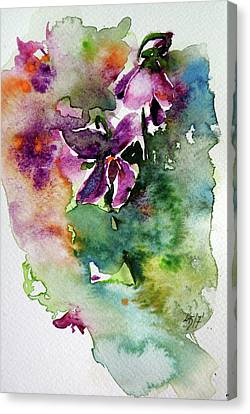 Canvas Print featuring the painting Little Violet by Kovacs Anna Brigitta