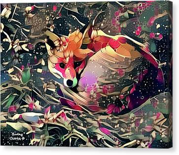 Little Vixen Canvas Print by Bunny Clarke