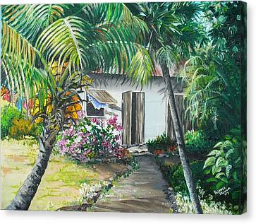 Little West Indian House 2...sold Canvas Print by Karin  Dawn Kelshall- Best