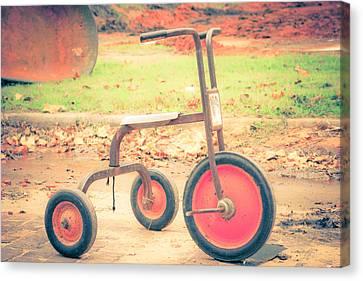 Little Wheels Canvas Print by Toni Hopper