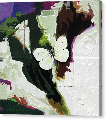 Little White Butterfly Canvas Print by John Lautermilch