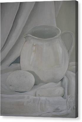 Little White Jug Canvas Print