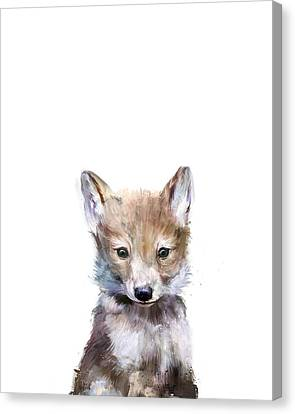 Fauna Canvas Print - Little Wolf by Amy Hamilton