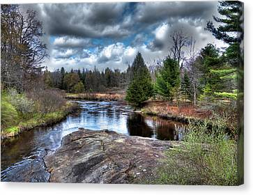 Spring Scenes Canvas Print - Big Woodhull Creek by David Patterson