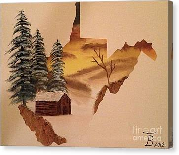 Bob Ross Canvas Print - Little Wv Cabin by Tim Blankenship
