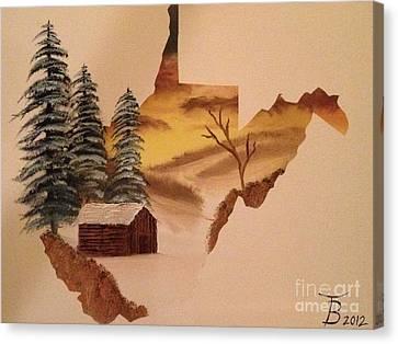 Little Wv Cabin Canvas Print by Tim Blankenship