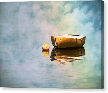 Little Yellow Boat Canvas Print