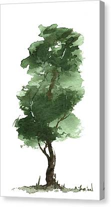Little Zen Tree 161 Canvas Print by Sean Seal