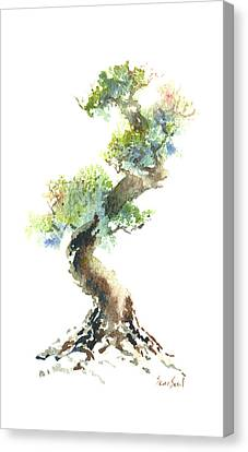 Canvas Print featuring the painting Little Zen Tree 1692 by Sean Seal