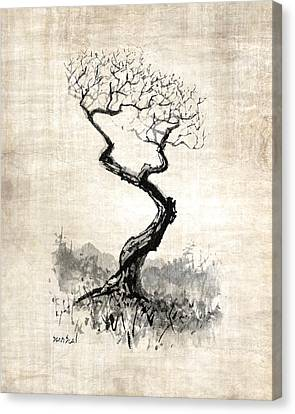 Canvas Print featuring the painting Little Zen Tree 1820 by Sean Seal