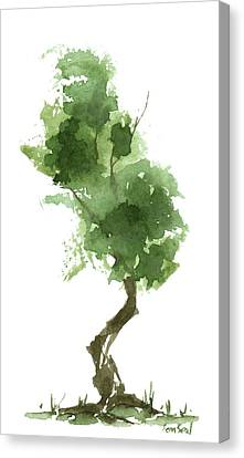 Little Zen Tree 187 Canvas Print by Sean Seal