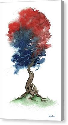 Little Zen Tree 290 Canvas Print by Sean Seal