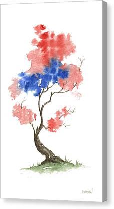 Little Zen Tree 291 Canvas Print by Sean Seal