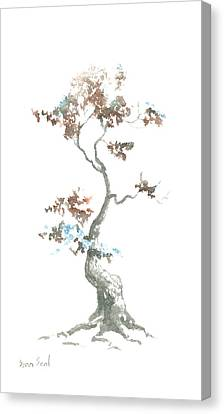 Little Zen Tree 444 Canvas Print by Sean Seal