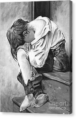 Littleboy Canvas Print by Richard Lezette
