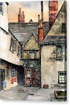 Shakespear Canvas Print - Littlemore Court. Oxford. by Mike Lester