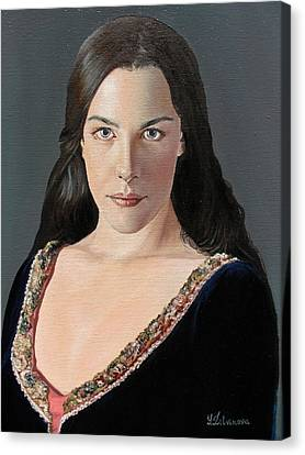Liv Tyler As Arwen Canvas Print