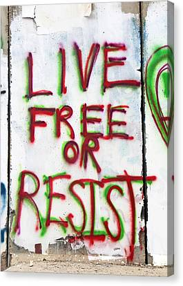 Live Free Or Resist Canvas Print