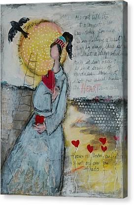 Live Joyfully  Canvas Print by Sharon Furner