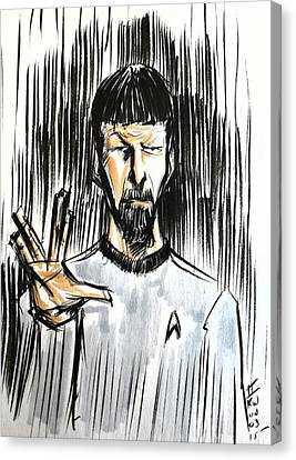 Canvas Print featuring the drawing Live Long And Prosper...... by Tu-Kwon Thomas