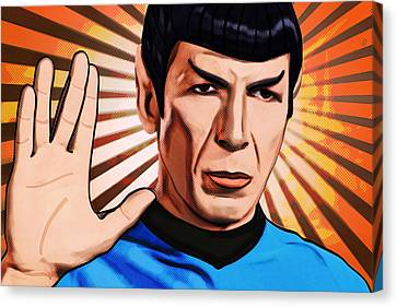 Live Long Mr Spock Canvas Print by Tobias Woelki