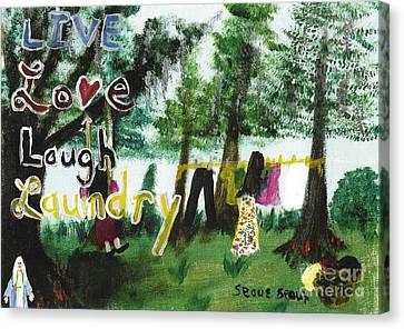 Live, Love, Laugh, Laundry Canvas Print by Seaux-N-Seau Soileau
