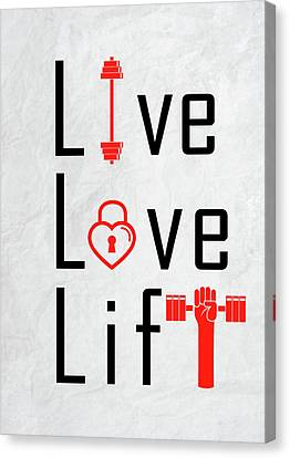 Live Love Life Daily Motivational Quotes Canvas Print