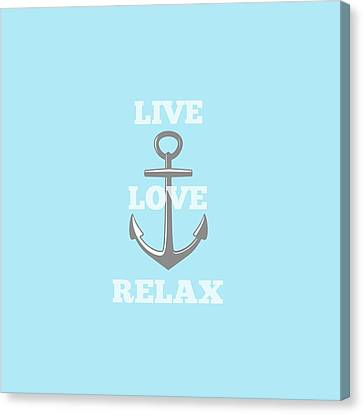 Live Love Relax - Customizable Color Canvas Print