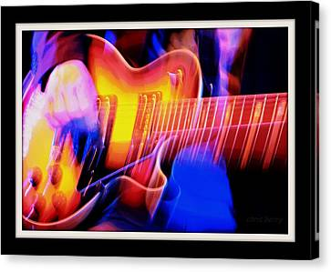Canvas Print featuring the photograph Live Music by Chris Berry