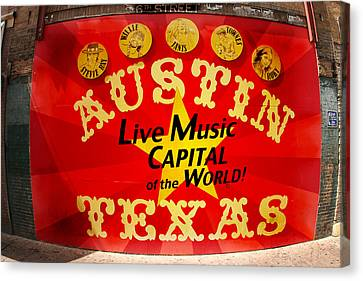 Live Music Mural Of Austin Canvas Print