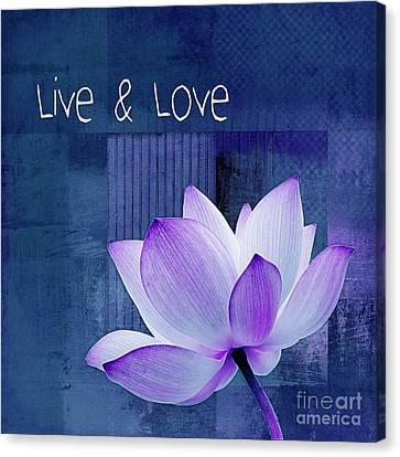 Live N Love - 123 Canvas Print