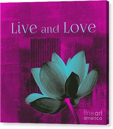 Live N Love - 15a01 Canvas Print by Variance Collections