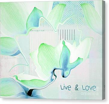Canvas Print featuring the photograph Live N Love - Absf15 by Variance Collections