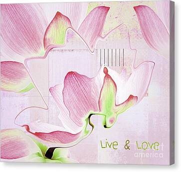 Canvas Print featuring the digital art Live N Love - Absf17 by Variance Collections