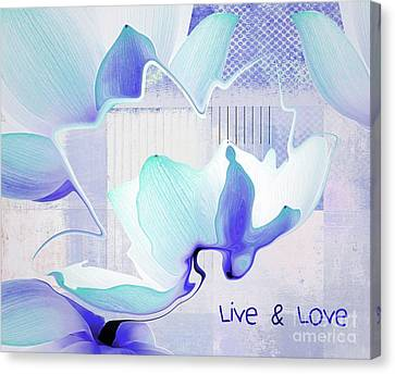 Canvas Print featuring the photograph Live N Love - Absf43 by Variance Collections