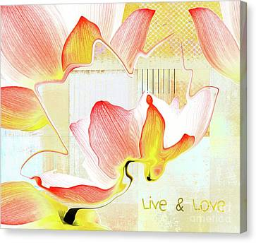 Canvas Print featuring the photograph Live N Love - Absf44b by Variance Collections